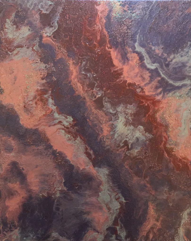 Интерьерная картина флюид арт